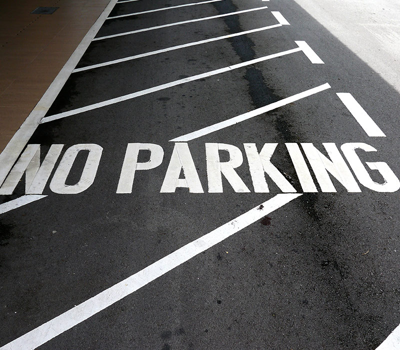 black pearl Parking Lot Striping