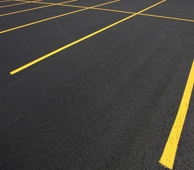 parking lot stripes black pearl sealcoating